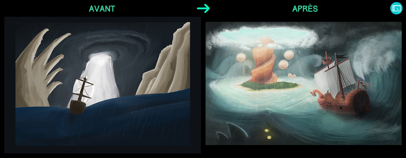 Progression en digital painting de link523