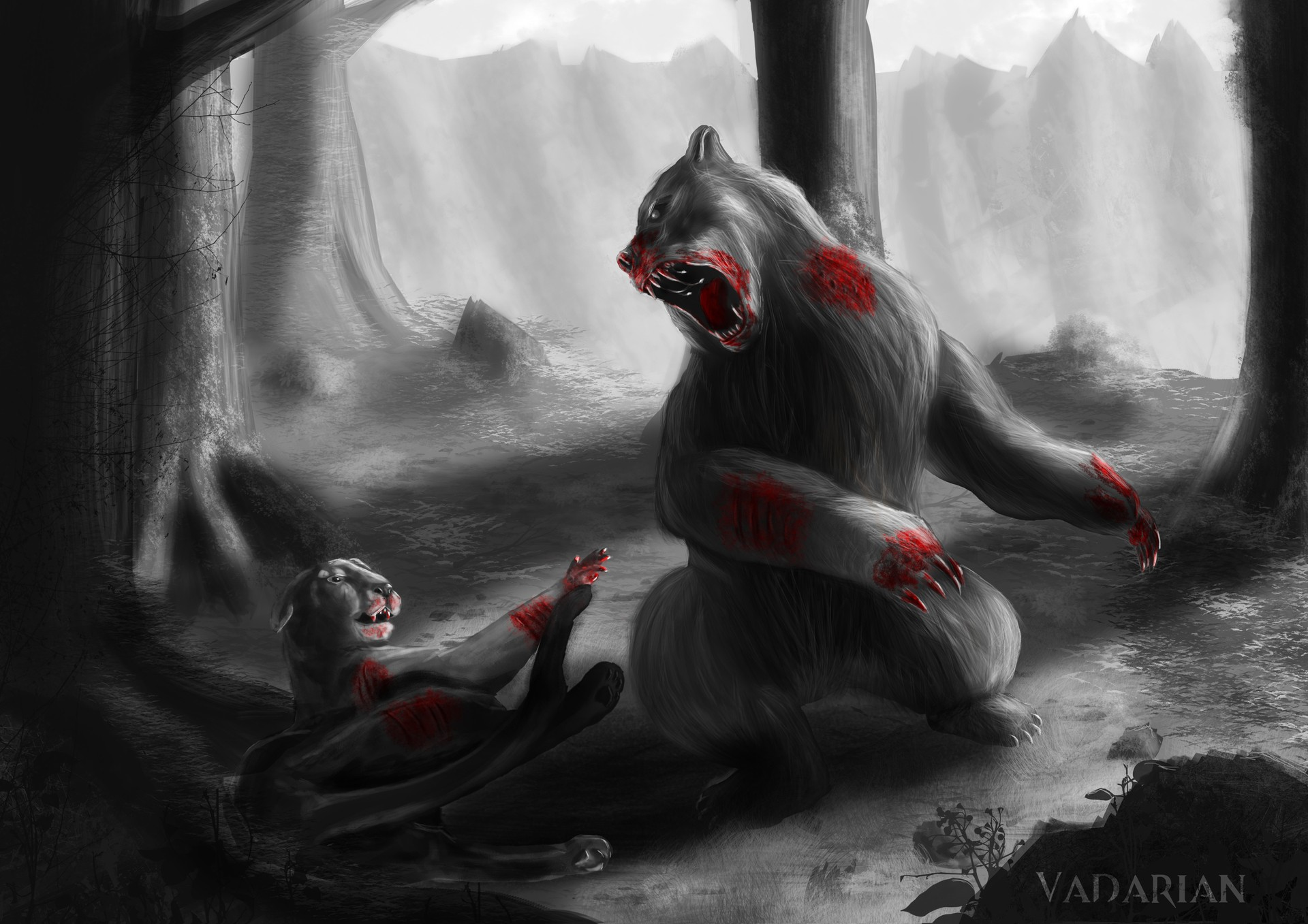 dangerous_wildlife__fight_or_die___by_vadarian-d9z par Vadarian