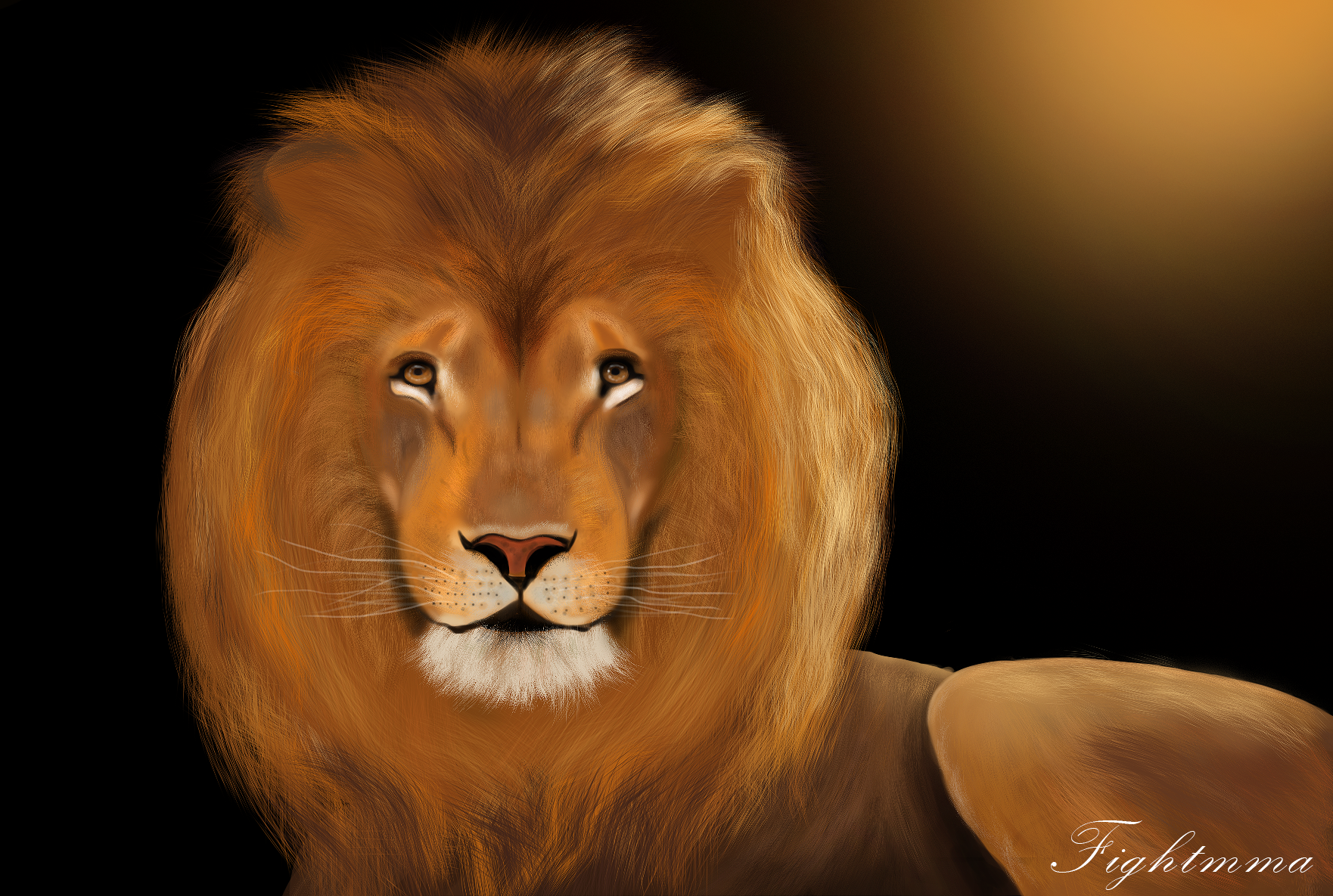 Le lion par Burning Digital