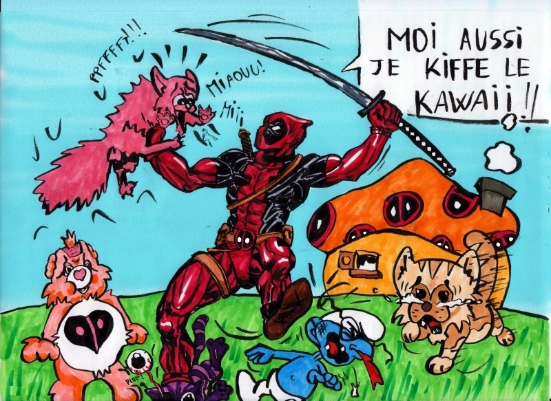 deadpool vs kawai couleur par Sombranne