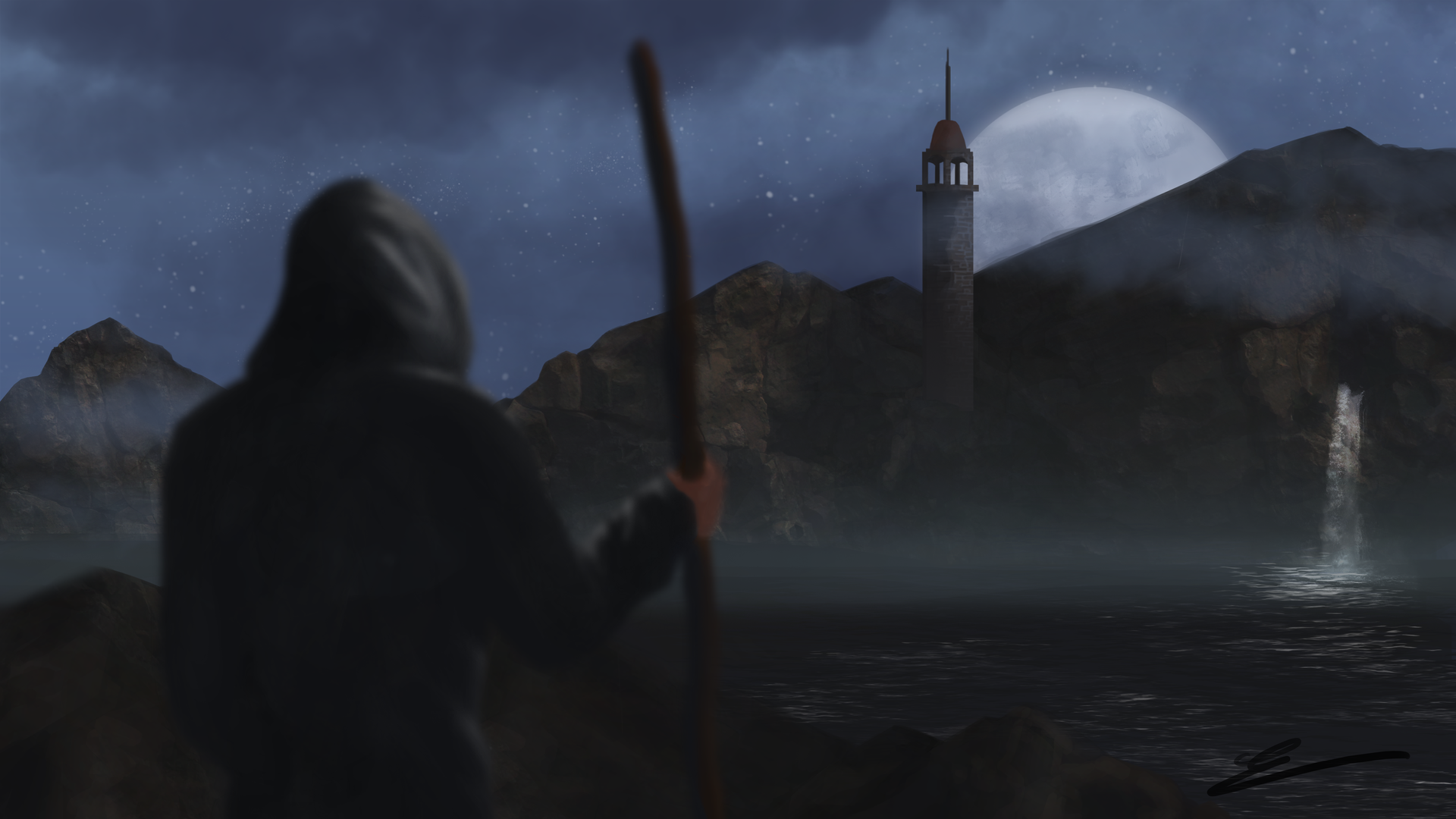 Digital Painting #2 Le Refuge par Sarnek