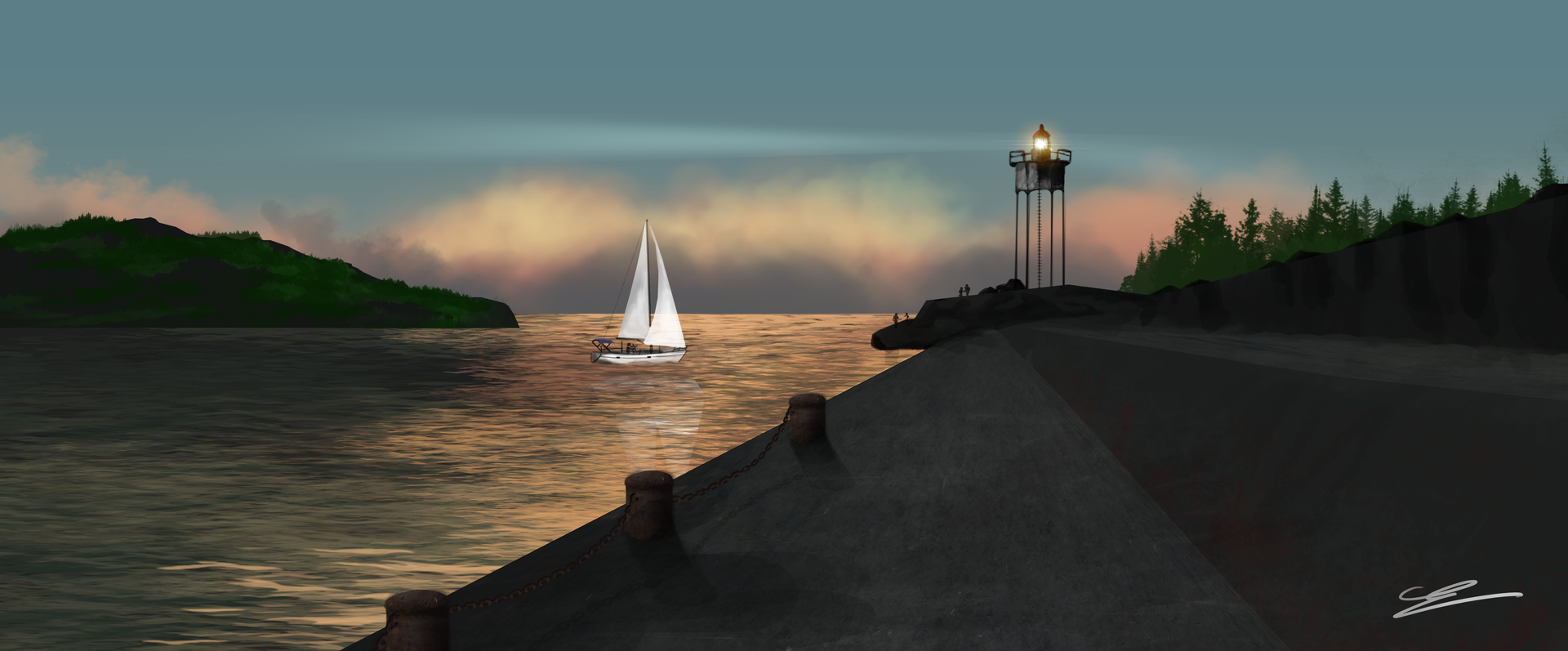 Digital Painting #1 Port-Vendres par Sarnek