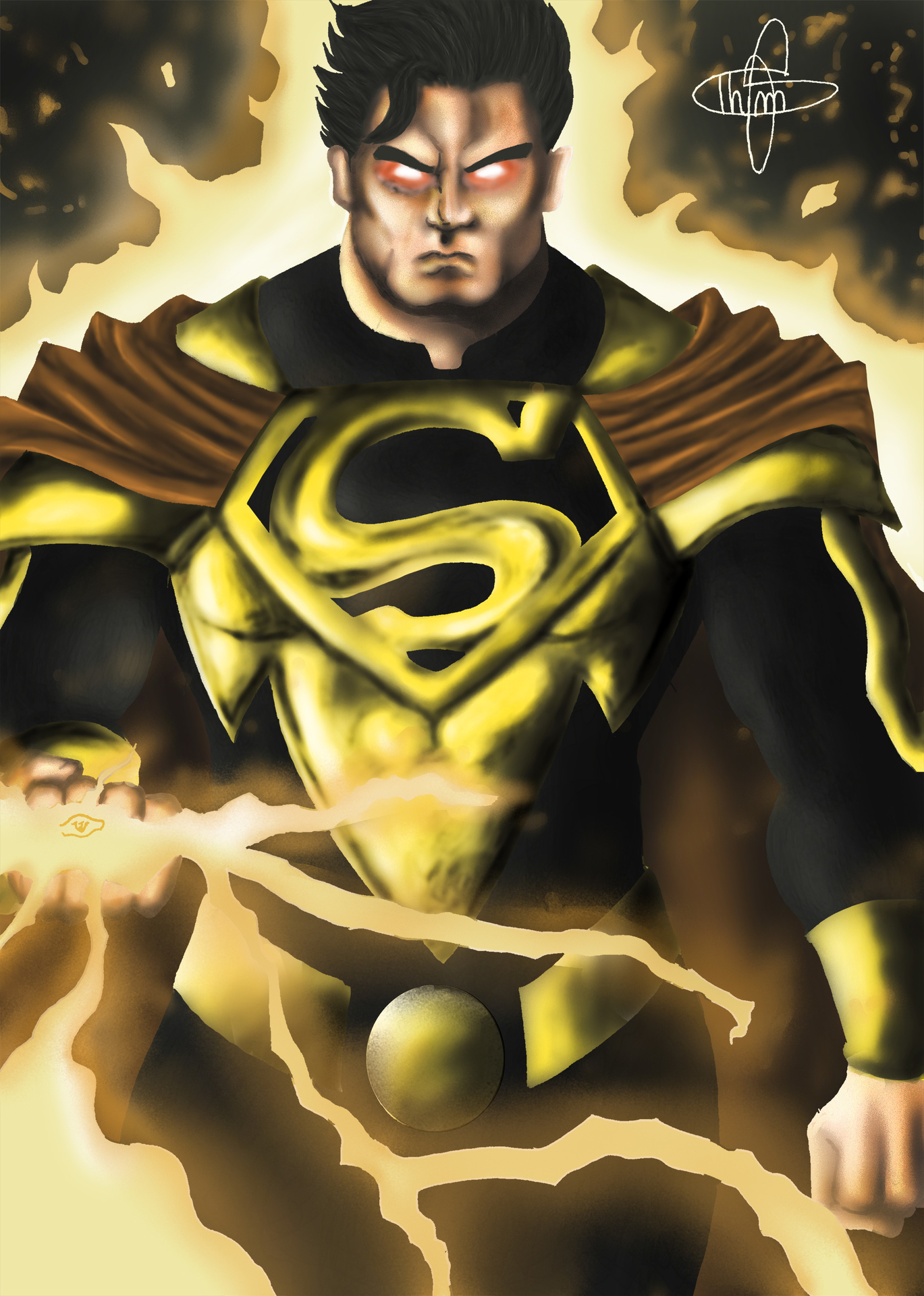 superman yellow lanter par ThimMyDraw