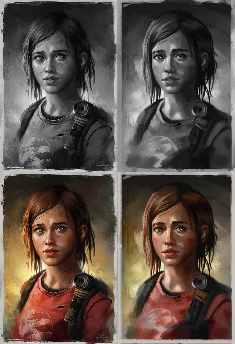 etude portait ''last of us'' par BJs