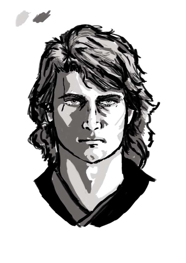 Anakin-ink sketch par BlueSevnov