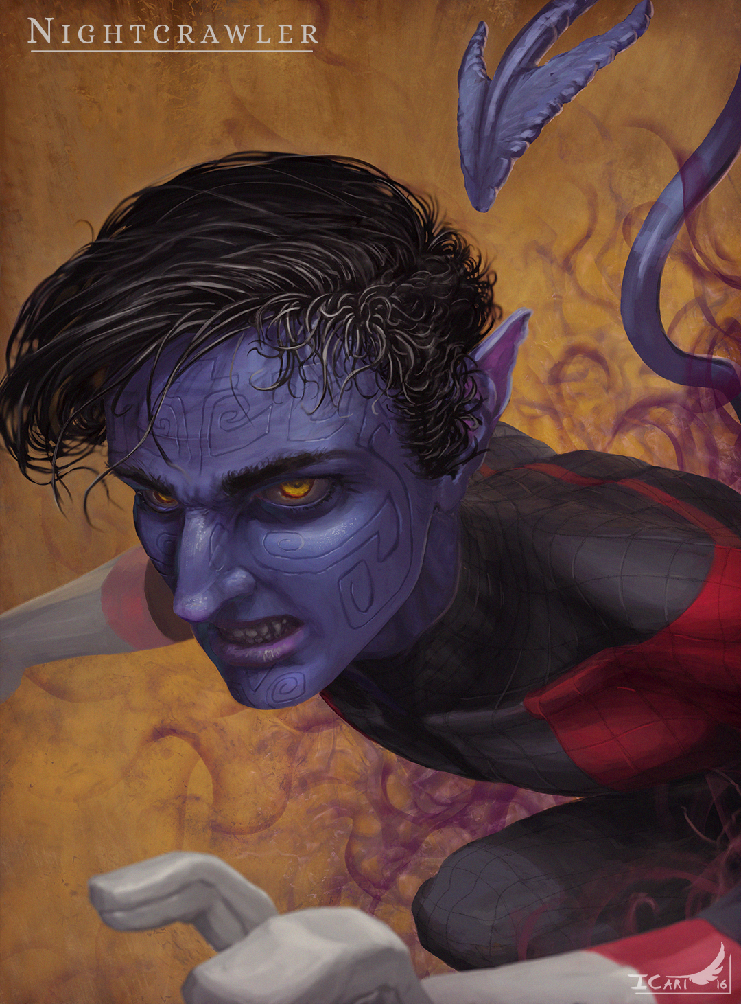 Portrait Nightcrawler (X-men) par icart
