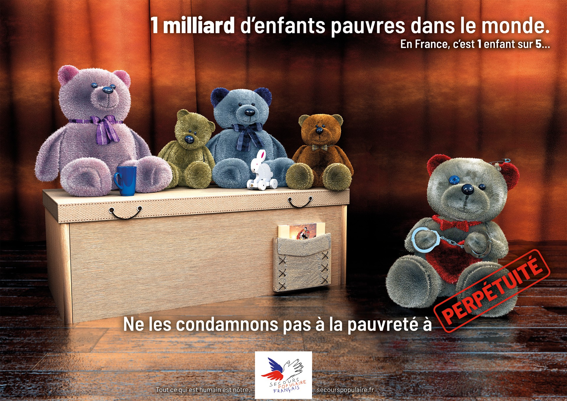 AFFICHE SECOURS POPULAIRE - VERSION 2 par angelesteban