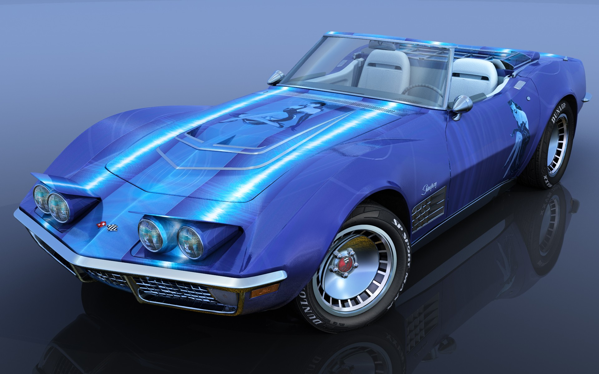 CHEVY CORVETTE LADY BLUE-2B par angelesteban