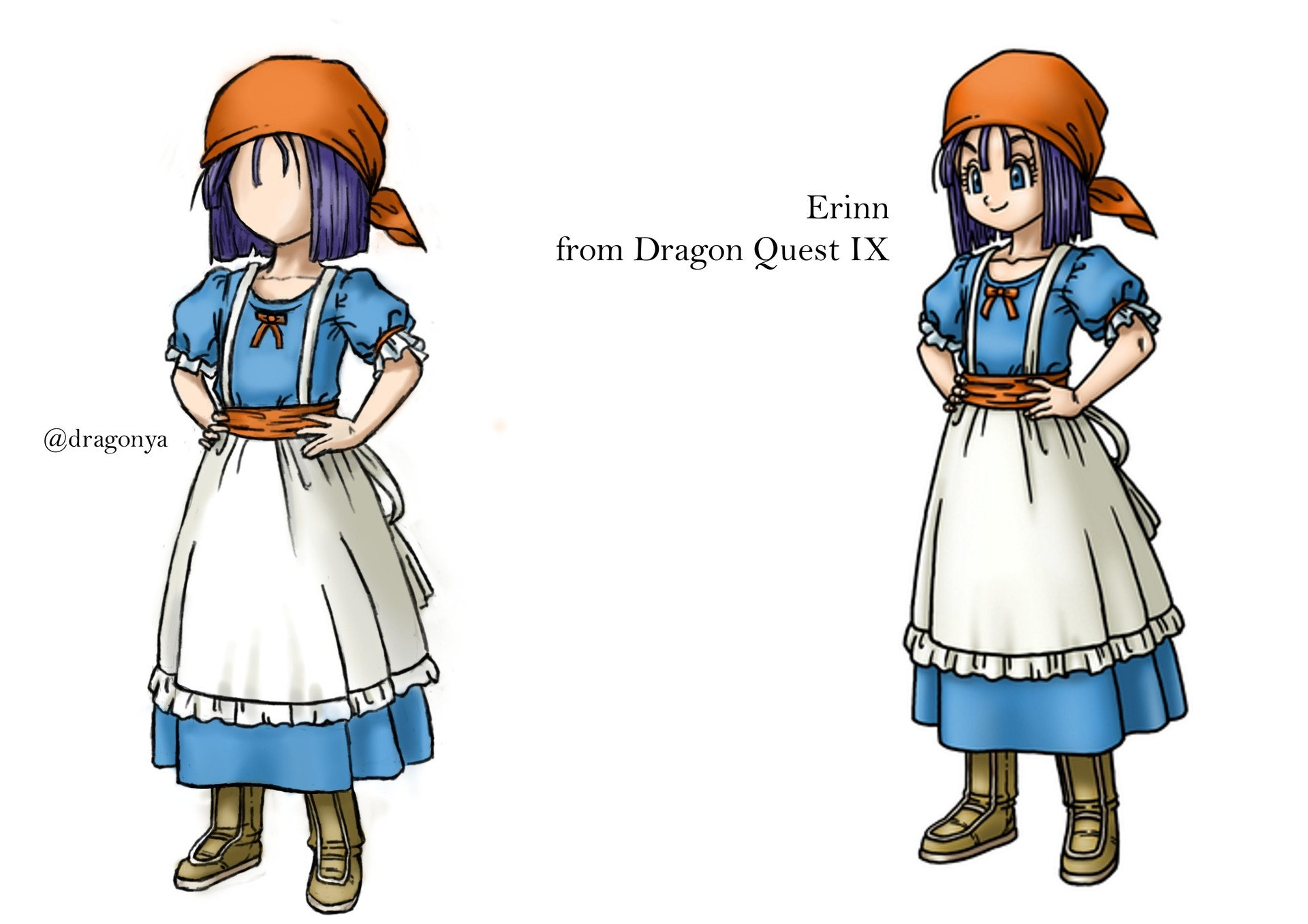 dragon quest IX pénélopé par Dragonya