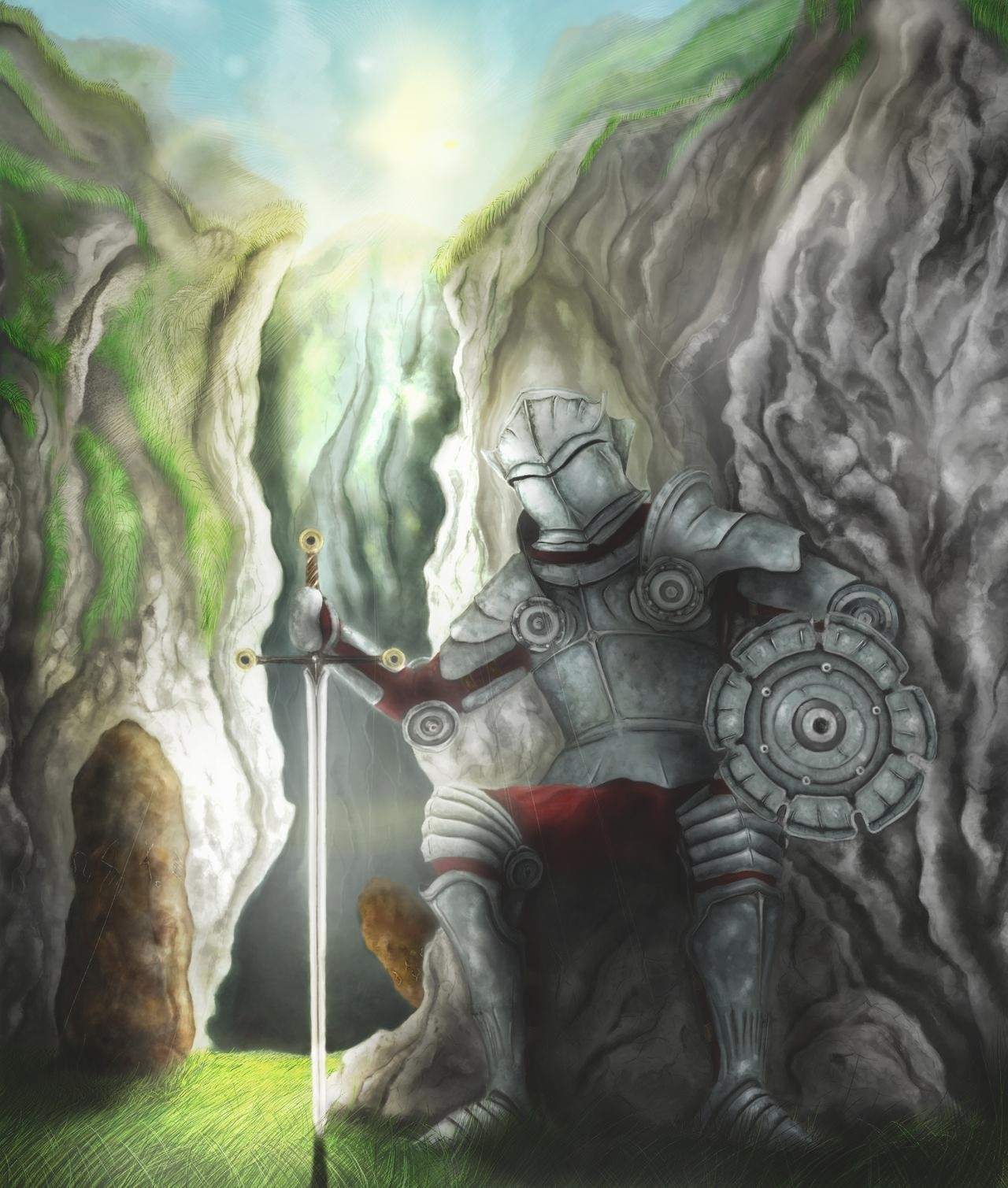 knight_on_the_road_to_coorhage par alain