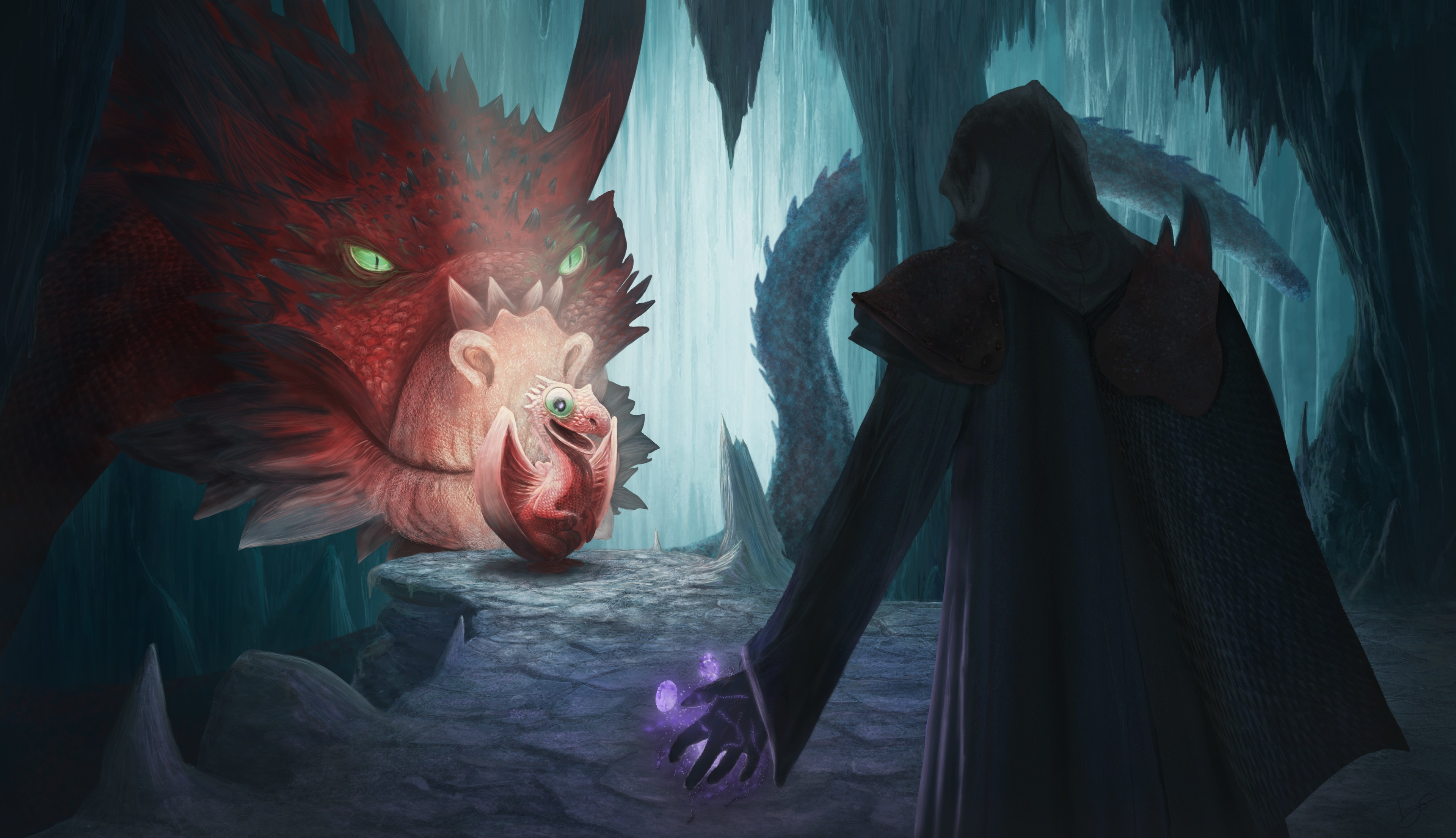 Dragons of the Magic cave par Ayaneth