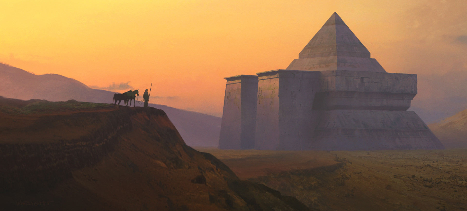 Digital painting de pyramide