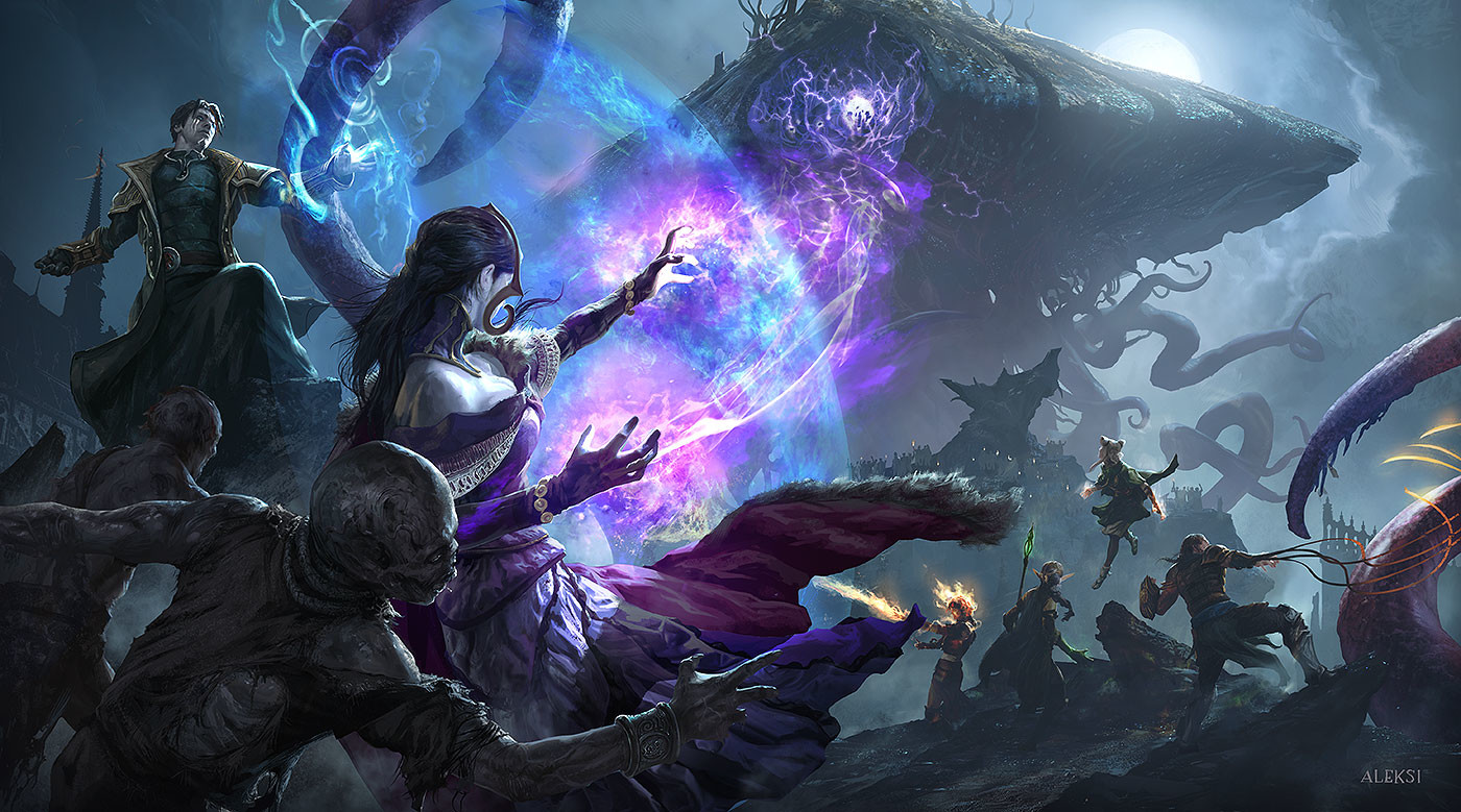Aleksi Briclot Illustration for Magic The Gathering Eldritch Moon