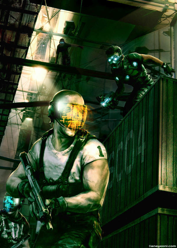 Aleksi Briclot illustration for SplinterCell