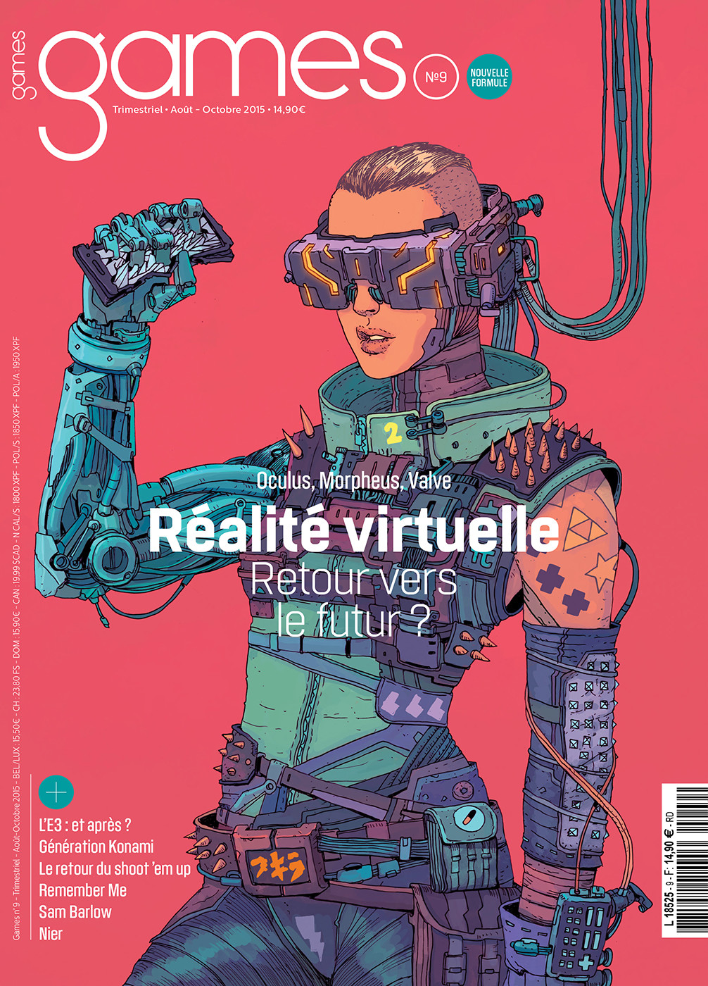 Illustration de presse : couverture de magazine par Jo San