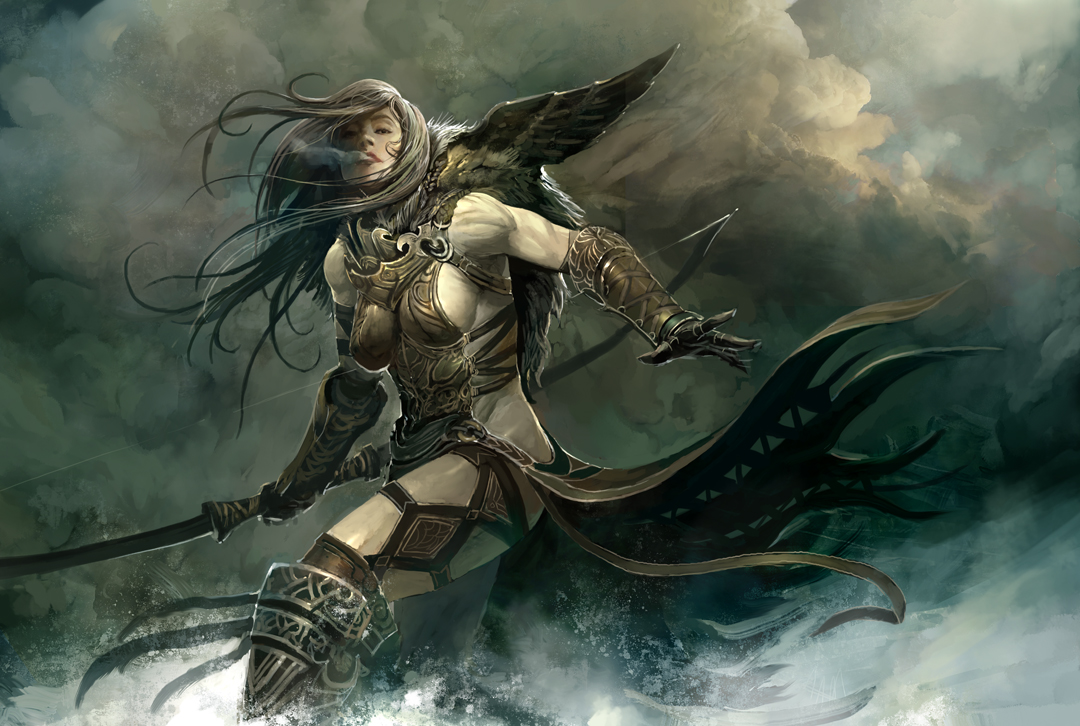 Kekai Kotaki Guild Wars Concept Art Female Norn