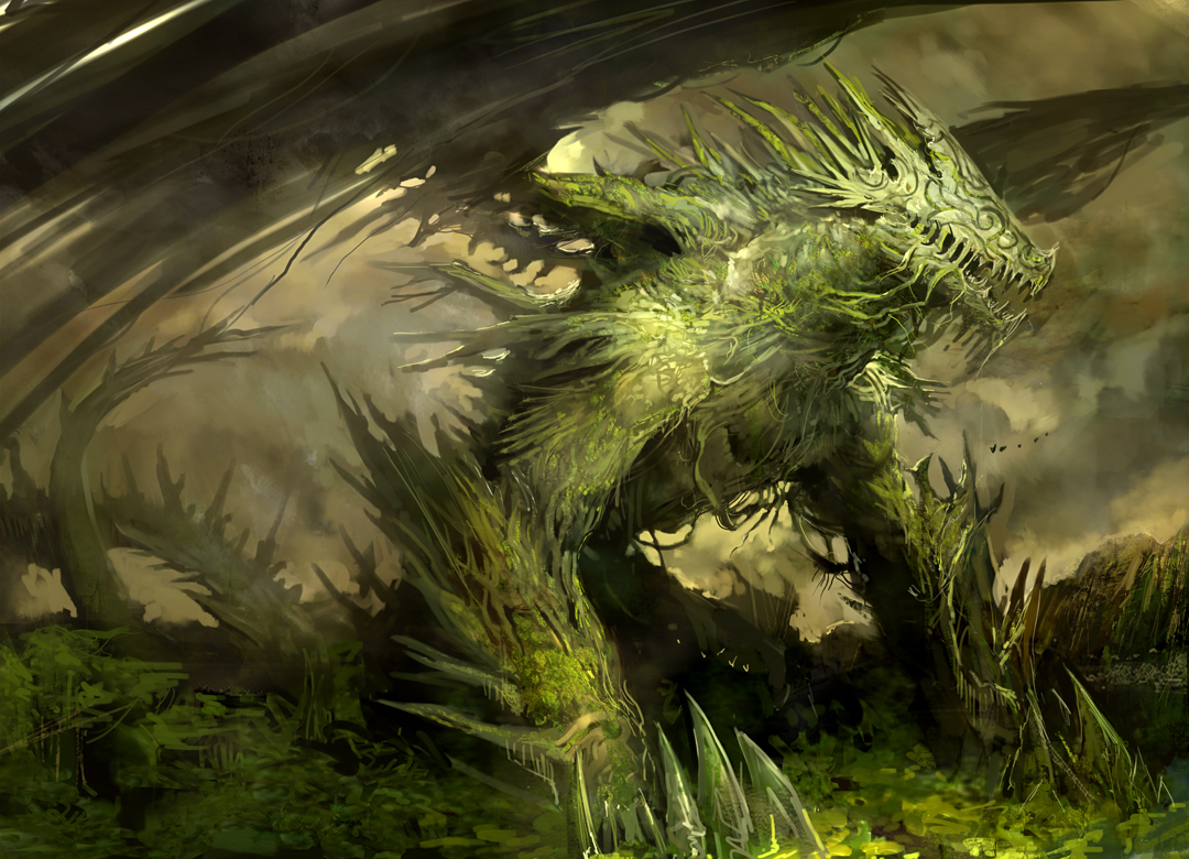 Kekai Kotaki Guild Wars Concept Art Forest Spirit