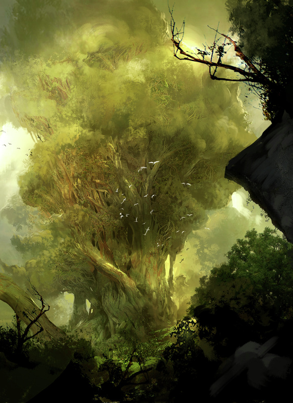 Kekai Kotaki Guild Wars Concept Art Tree