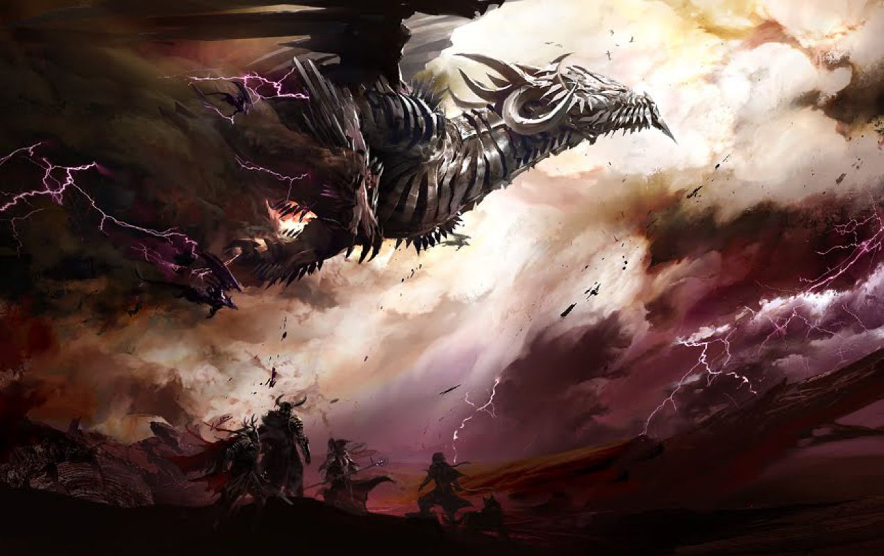 Kekai Kotaki Guild Wars Concept Art Dragon