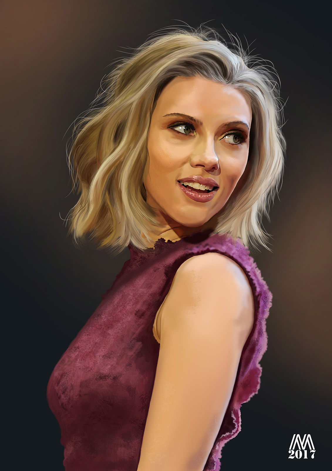 Scarlett digital painting de Micado