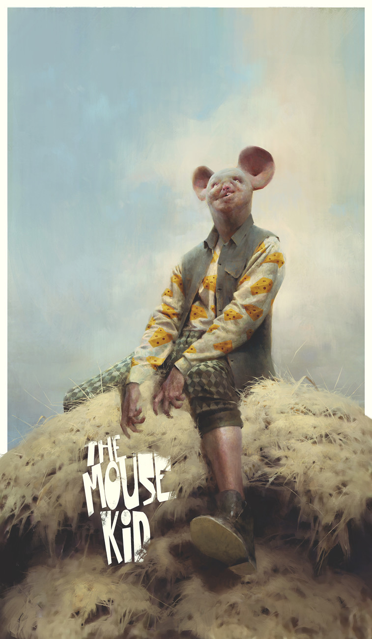 Piotr Jablonsky Digital Painting the Mouse Kid