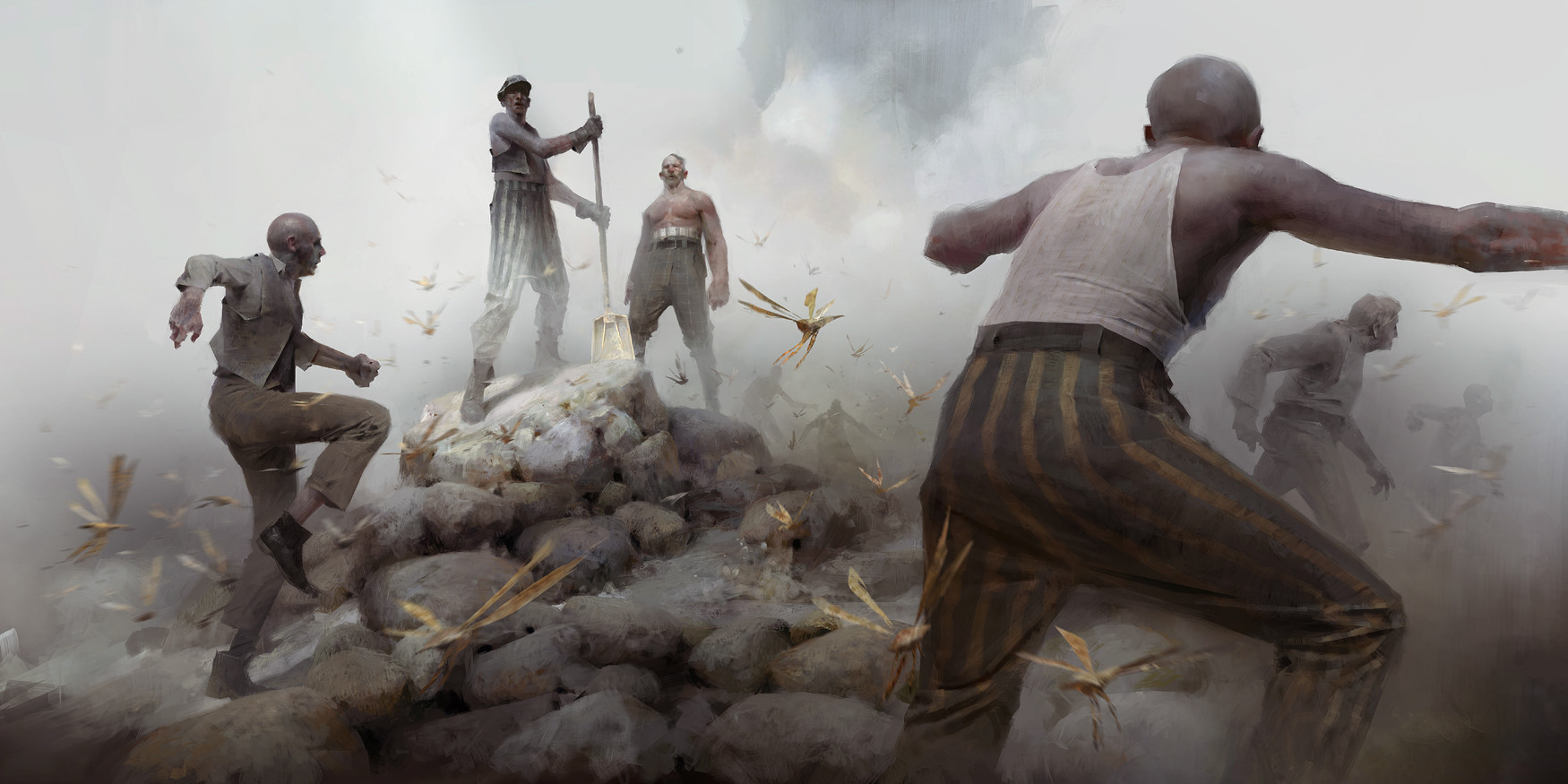 Piotr Jablonsky Digital Painting Dishonored 2 Workers and Bloodflies