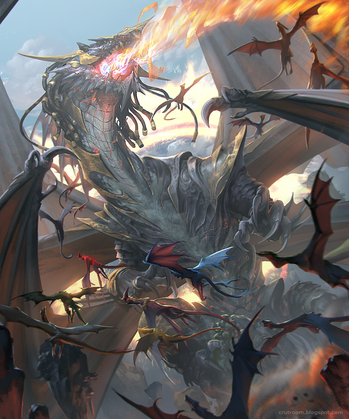 rudy siswanto digital painting Dragon