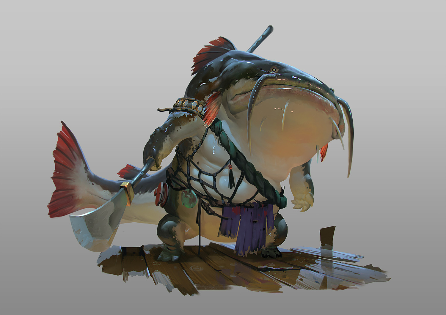 rudy siswanto concept art Catfish guard