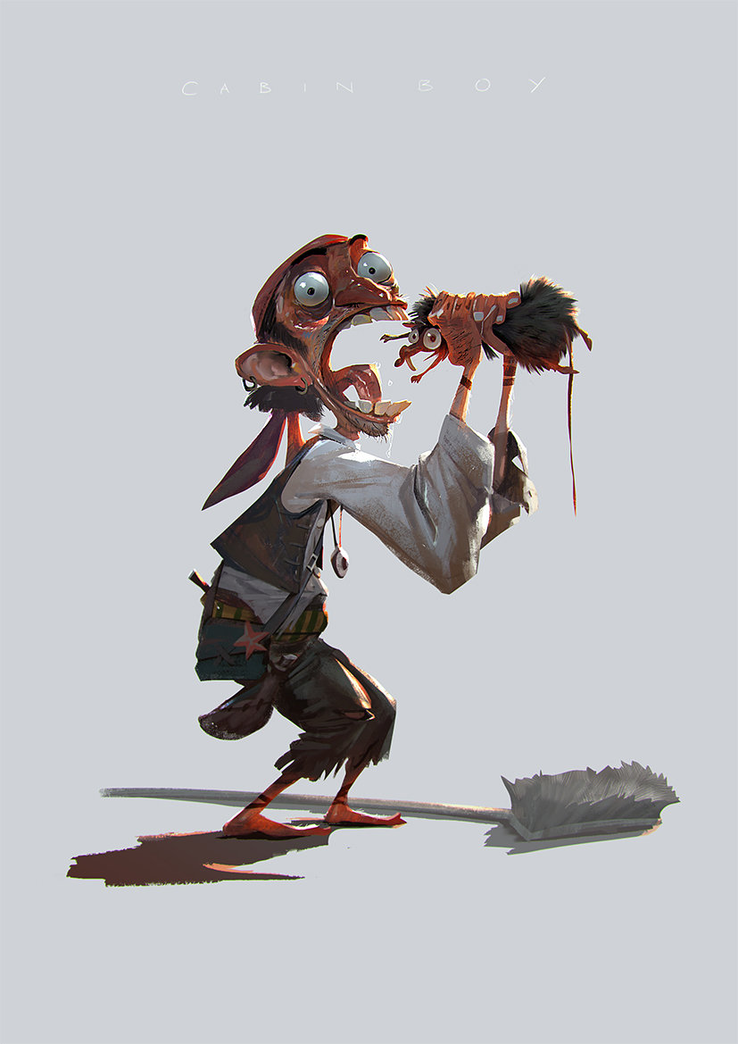 rudy siswanto concept art Pirate starving