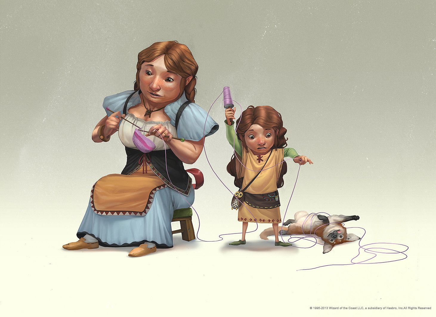 rudy siswanto concept art Dongeon and dragon Halfling