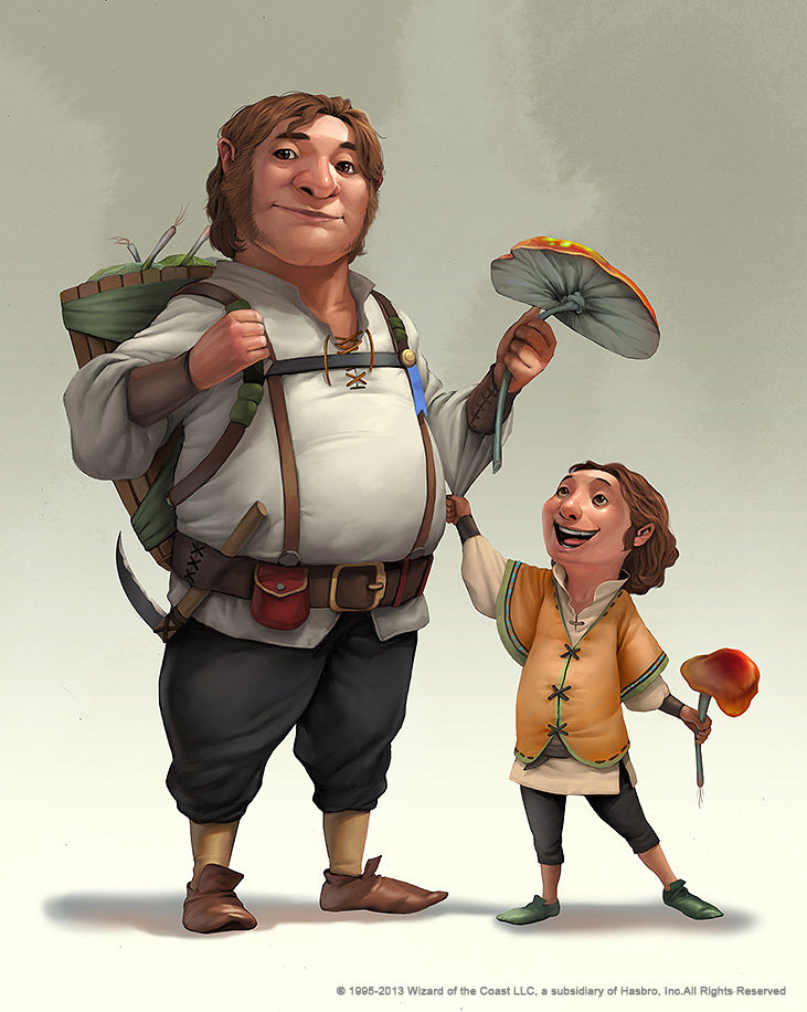 rudy siswanto concept art Dongeon and dragon Halfling 2