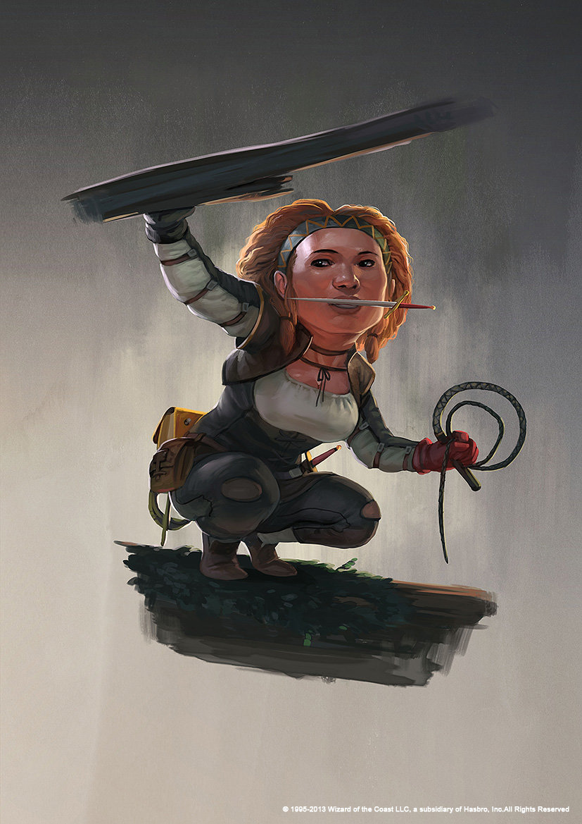 rudy siswanto concept art Dongeon and dragon Halfling 3