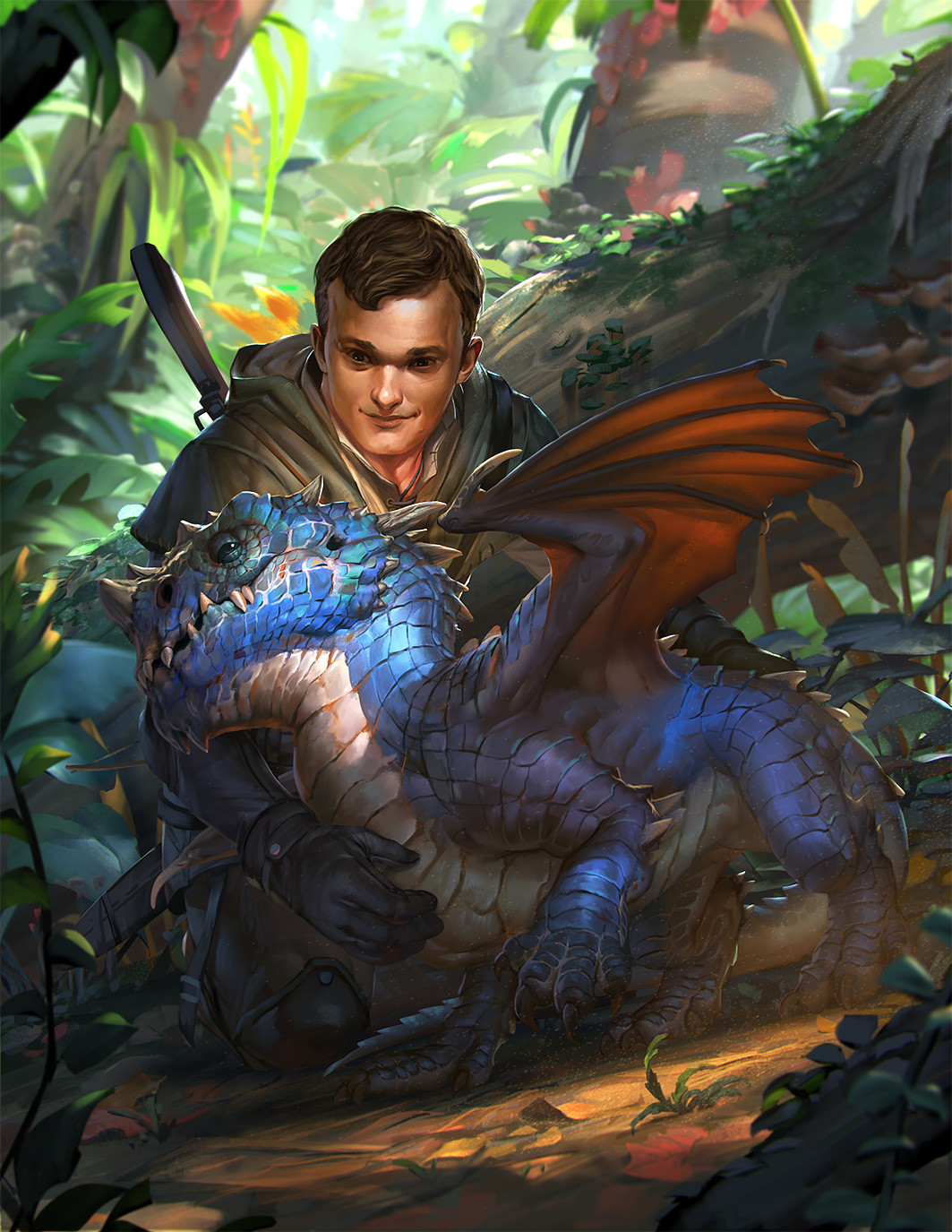 rudy siswanto digital painting Dragon Wrymling