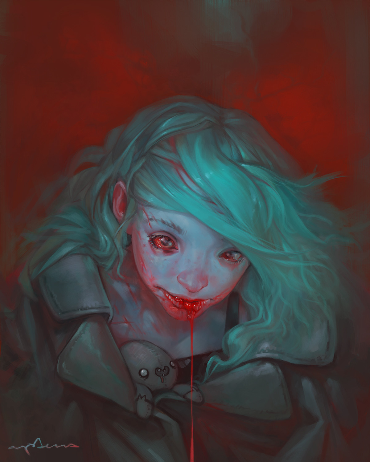 Sabbas Apterus illustration Bloody Blue