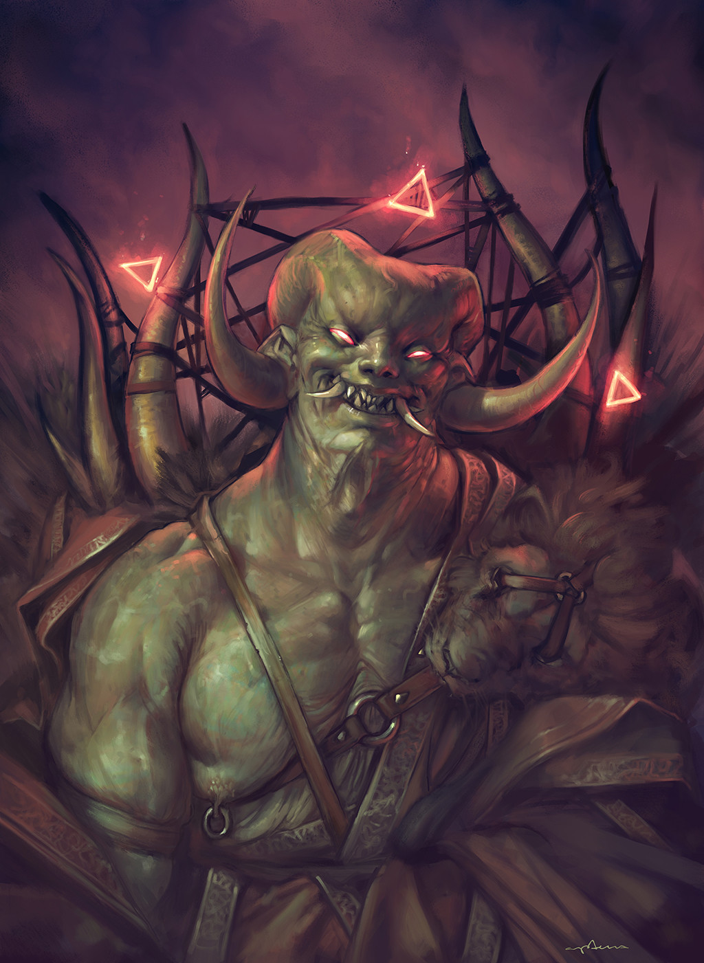 Sabbas Apterus illustration A hell dude