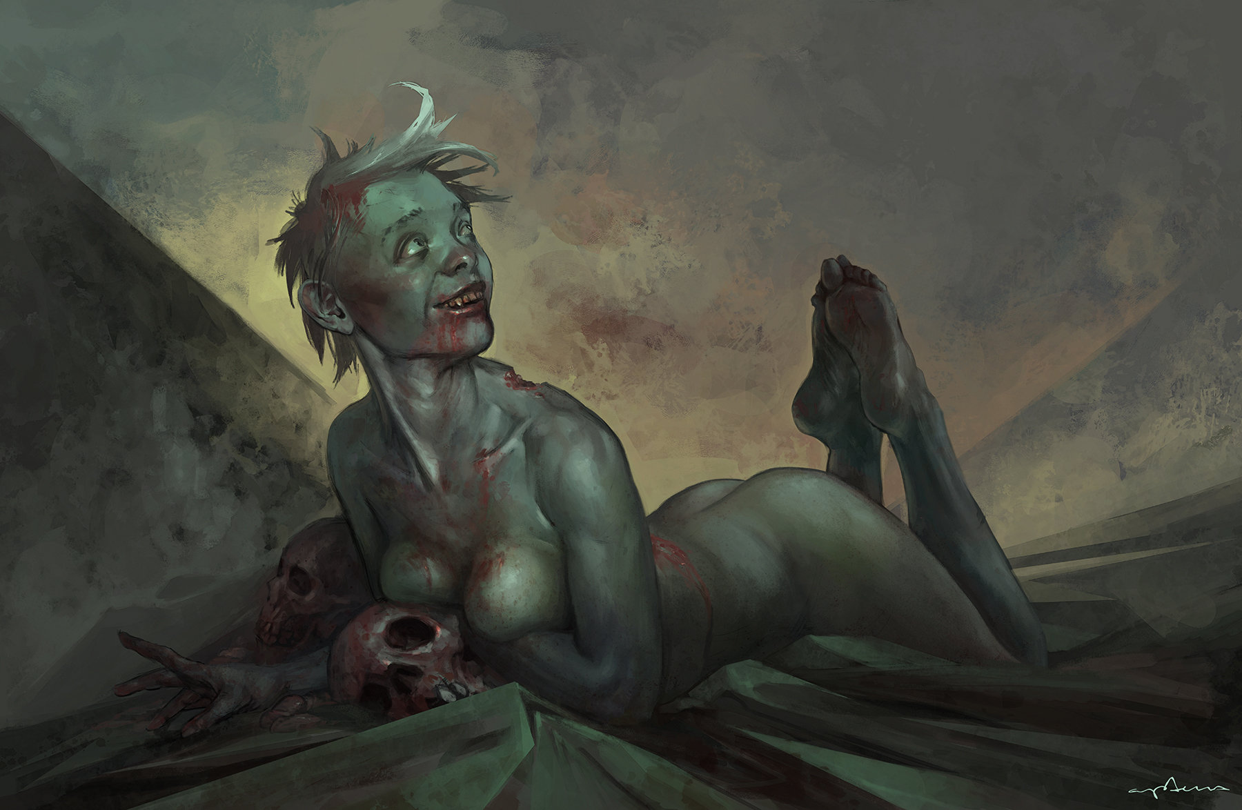 Sabbas Apterus illustration undead cutie