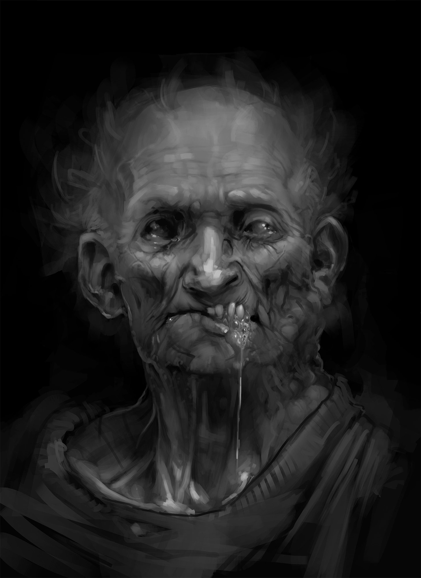 Sabbas Apterus illustration sweet old zombie man