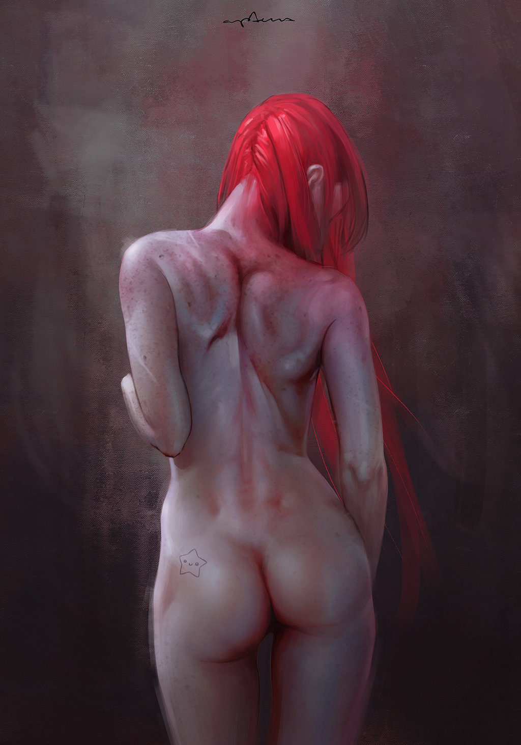 Sabbas Apterus illustration woman from behind