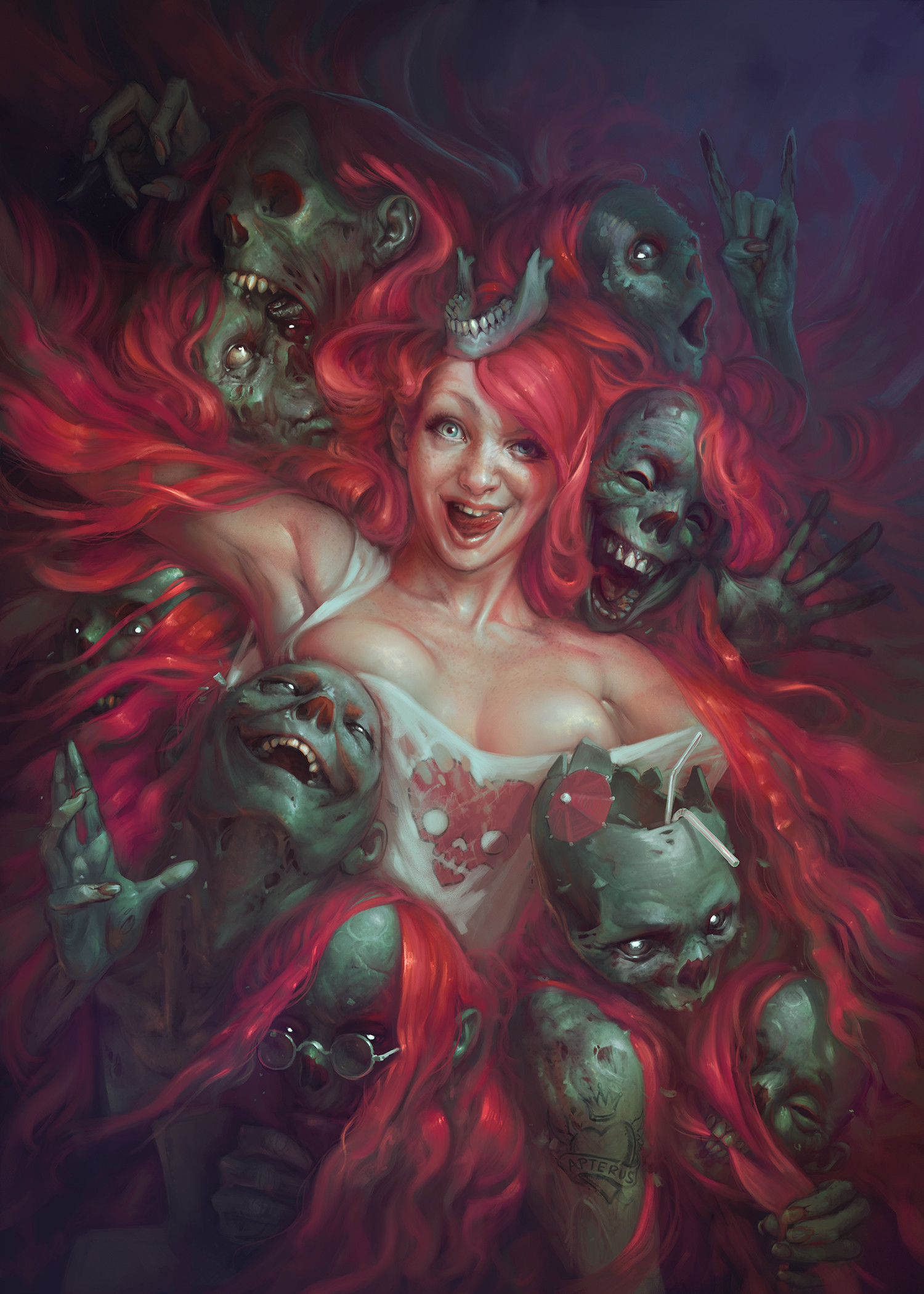 Sabbas Apterus illustration Hair is there to share