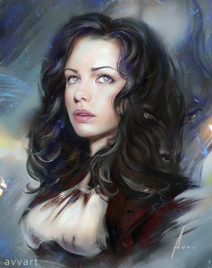 Aleksei Vinogradov Illustration Portrait Anna