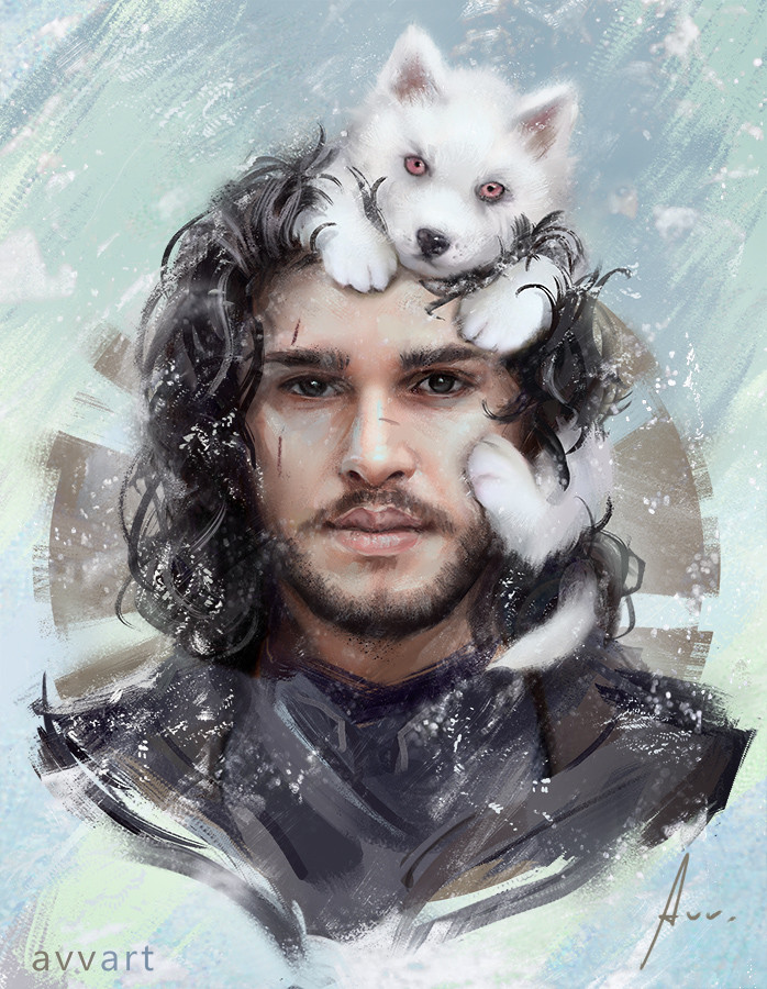 Aleksei Vinogradov Illustration Portrait John Snow