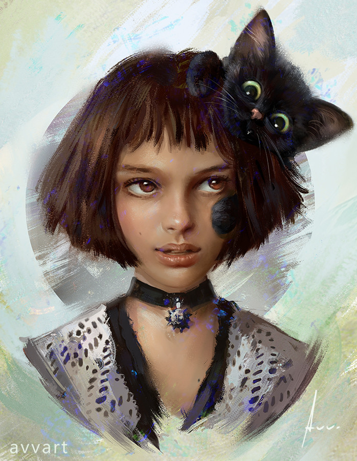 Aleksei Vinogradov Illustration Portrait Mathilda