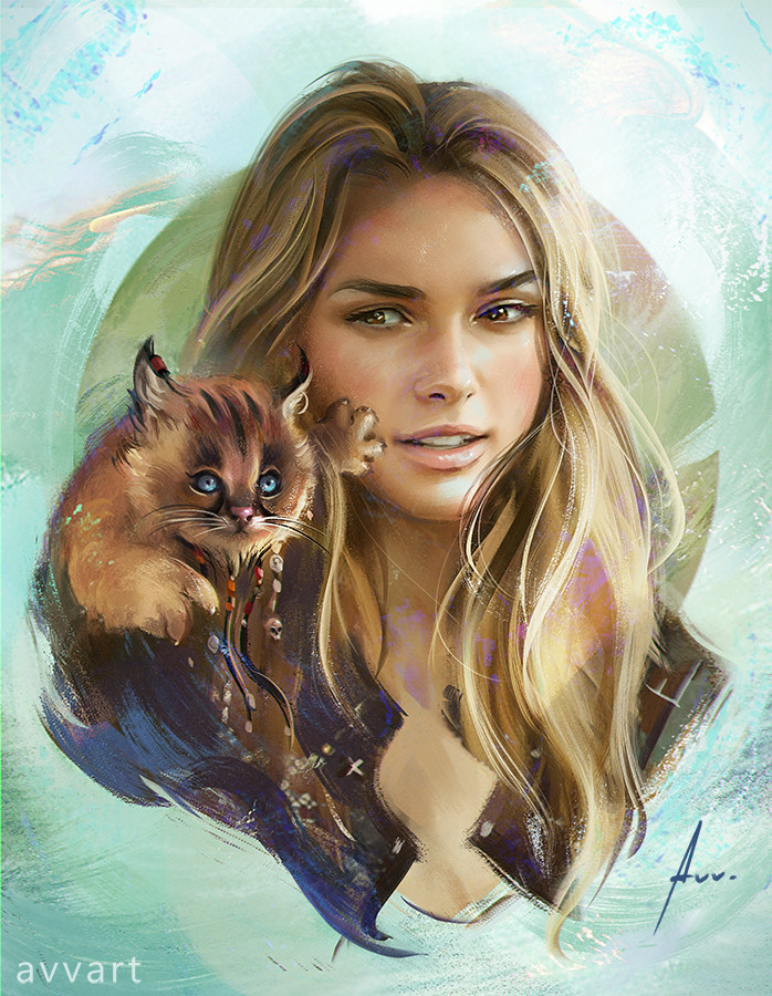 Aleksei Vinogradov Illustration Portrait Keira