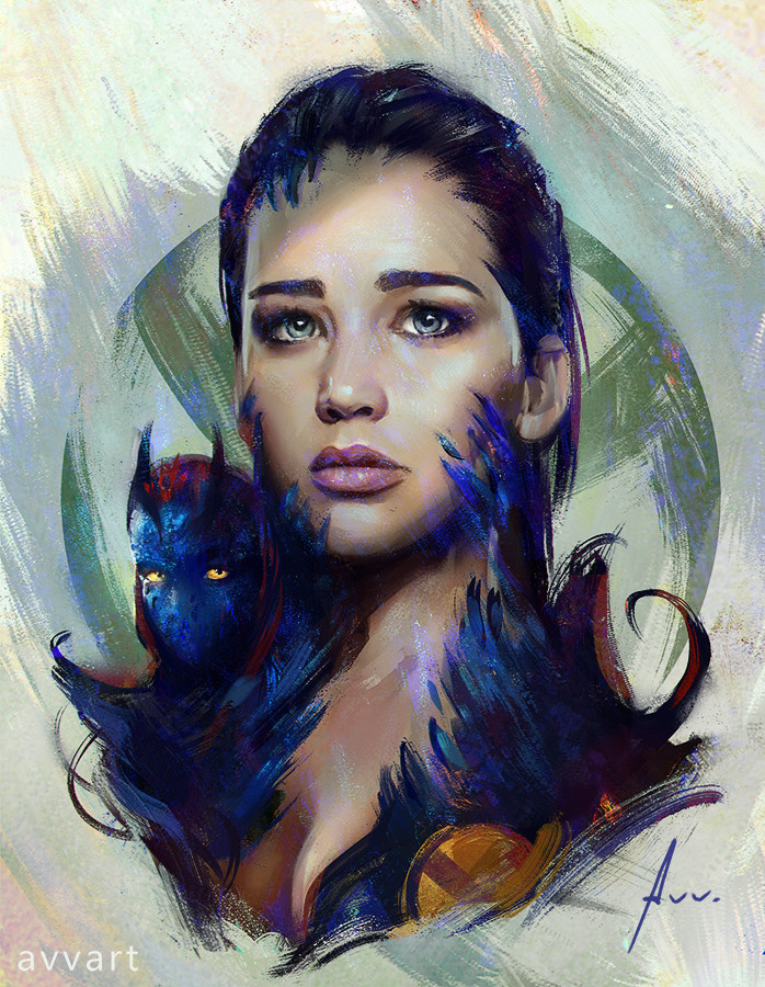 Aleksei Vinogradov Illustration Portrait Mystique