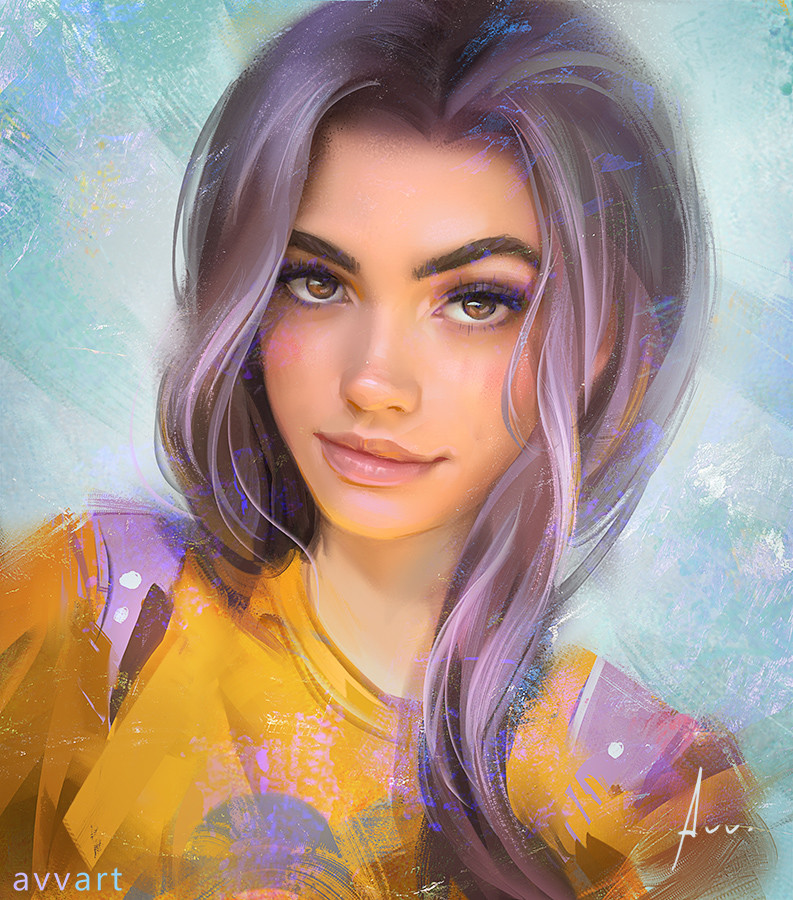 Aleksei Vinogradov Illustration Portrait Kelsey