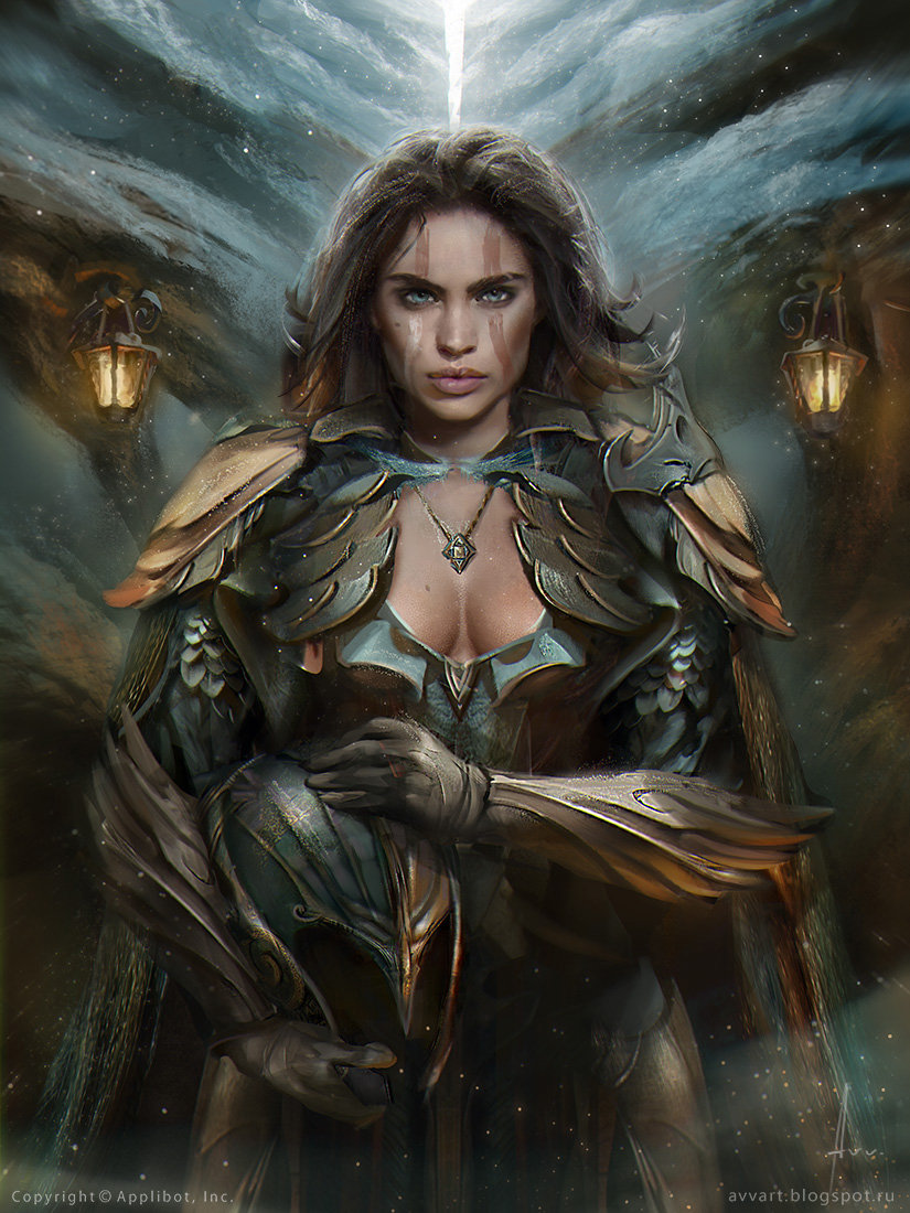Aleksei Vinogradov Illustration Portrait Leona