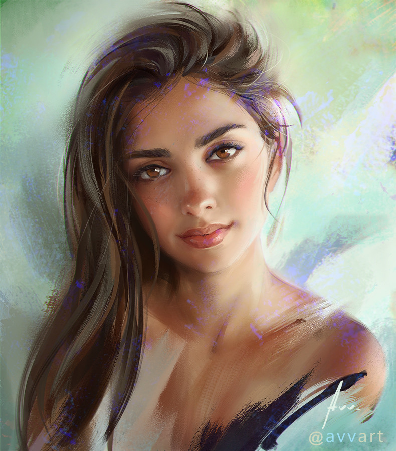 Aleksei Vinogradov Illustration Portrait Joanna