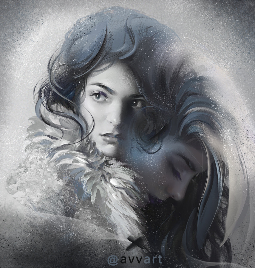 Aleksei Vinogradov Illustration Portrait Lorde Winter is coming