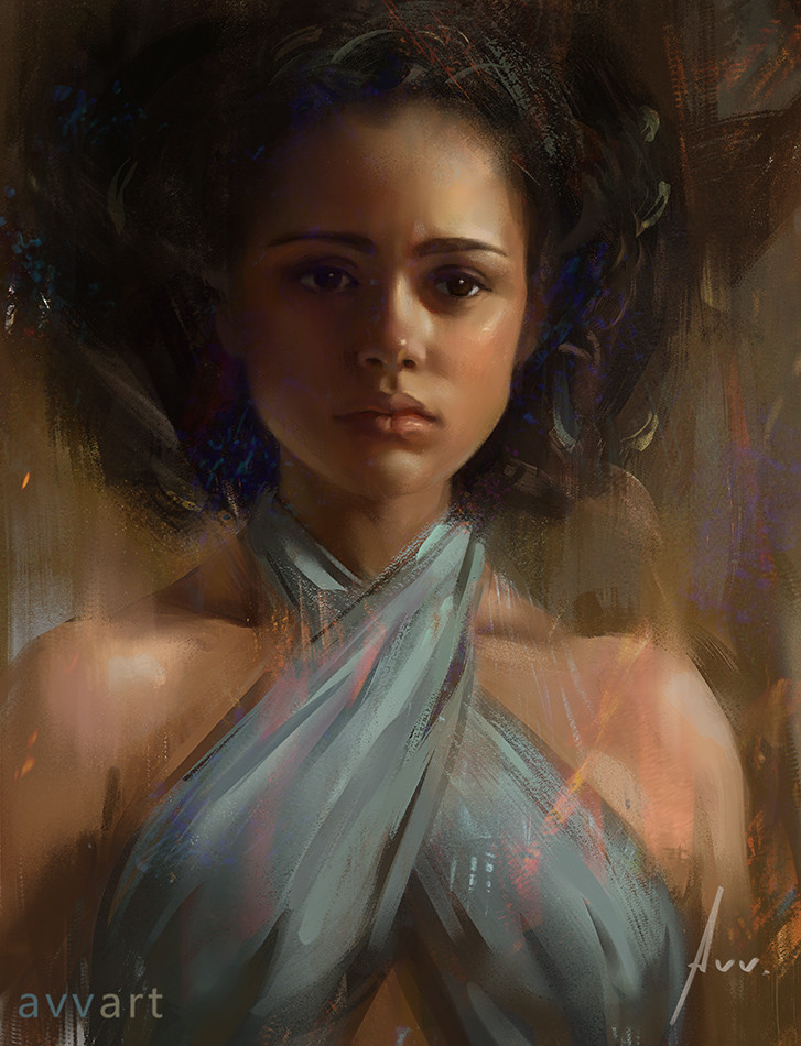 Aleksei Vinogradov Illustration Portrait Missandei