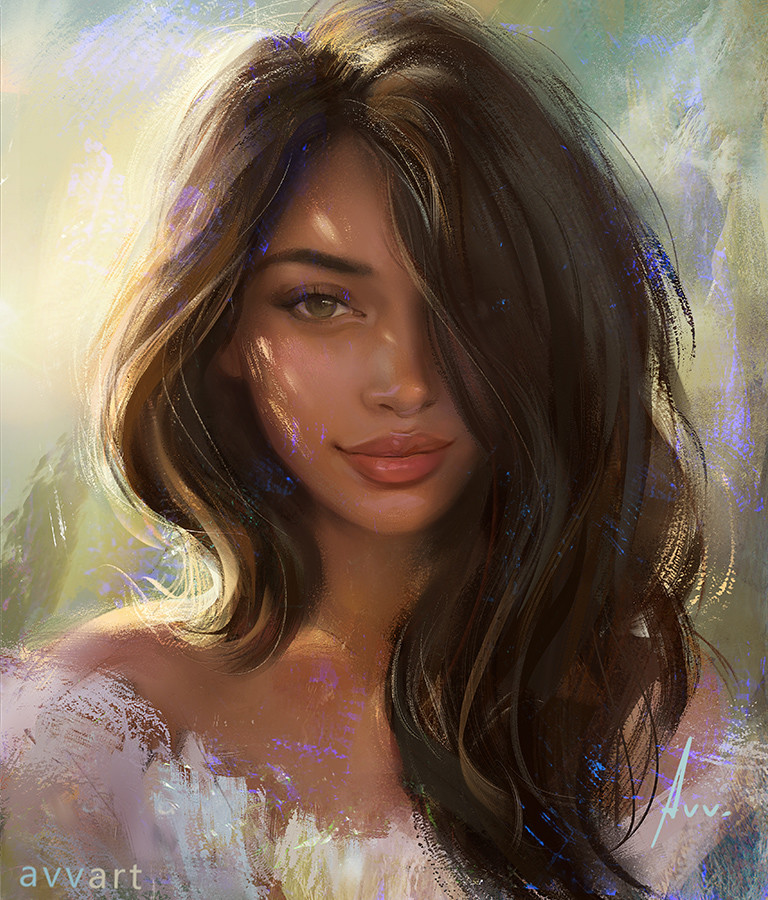 Aleksei Vinogradov Illustration Portrait Cindy